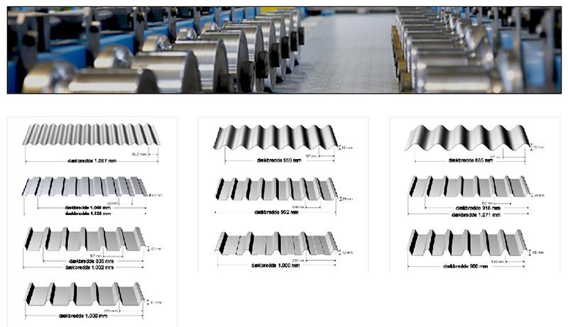Trapez- og sinusplader i aluminium