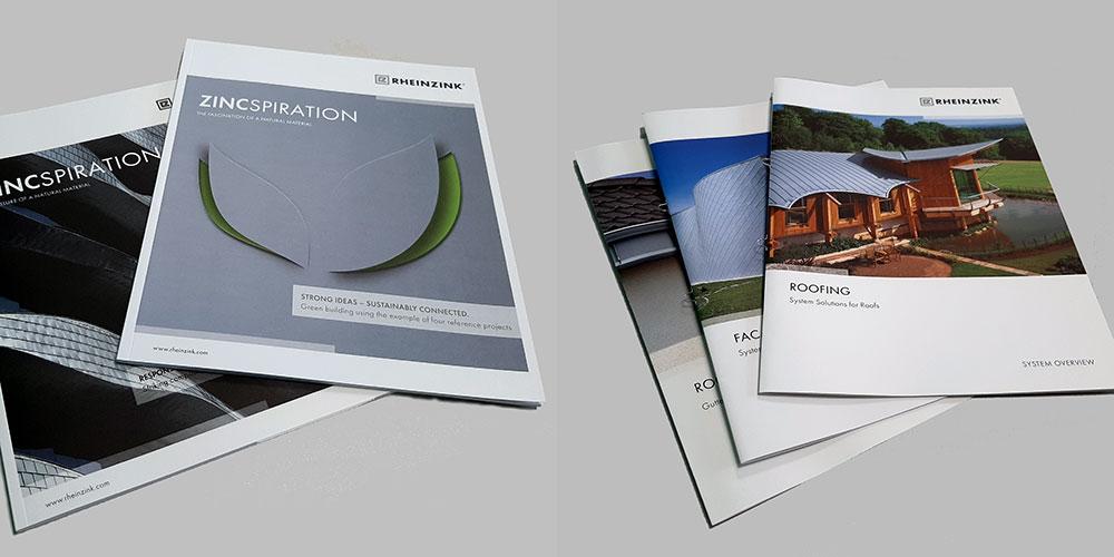 RHEINZINK-brochurer/produktinformation