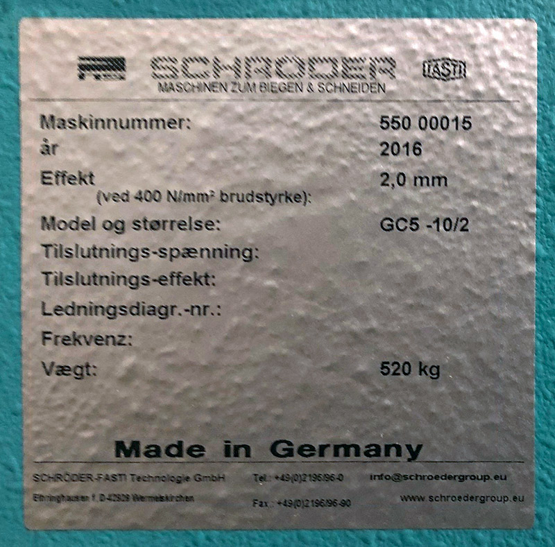 Schröder-Fasti GC 5